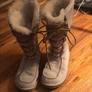 UGG Australia Uptown Lace Shearling Boots